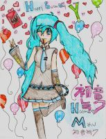 Happy BirthDay Miku! by Aunabug123