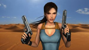 Lara in the desert by Lara-Croft-En-Force