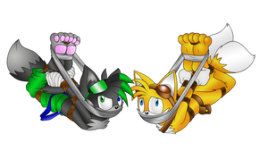 Rope and tape and paws, oh my! (Finished) by Shadz-the-Fox