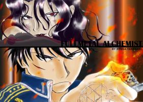 Roy Mustang VS Lust by ryssa-takesaki
