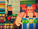 papercraft: asterix, obelix, wario and luigi by dumitrucatalin