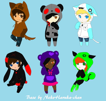 Hoodie Adoptables 2 Points Each (CLOSED)2 by DetritusDroid