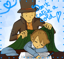 Professeur Layton Luke by Sakudrew
