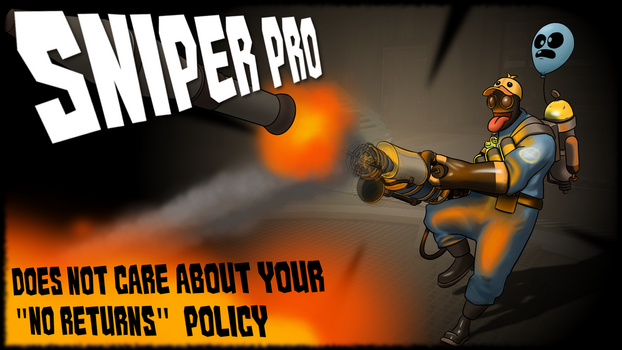 Sniper Pro Poster Commission by NottheFluffiest