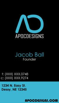 ApocDesigns Business Card by jball430