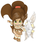 [chibi] Nidalee by CaptainPandaa