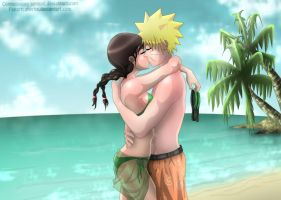 Naruten Summer Love Commission by Zhyrhe