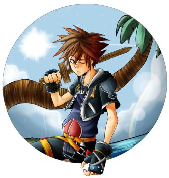 Kingdom Hearts - Sora and Destiny Islands by AlexisProject
