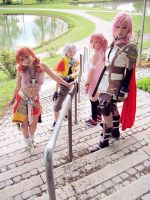 Final Fantasy 13 cosplay group 2 by MiyuDoLLy