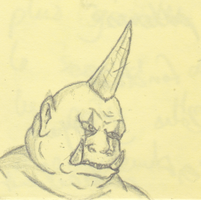 Sketch - Warcraft Ogre by Misuto-Gesshoku