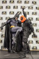 Batman and Dead Pool philly comic con 2013 by Studio5Graphics