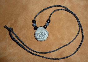Custom wolf braided necklace by lupagreenwolf