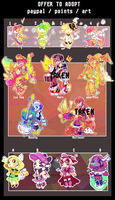 [Open- OTA] Unloved adoptables /outfits by Cheapcookie