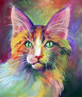 Colorful Cat 2 by San-T