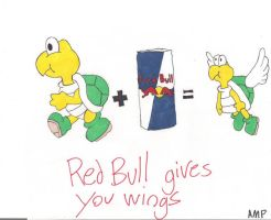 Red Bull gives you wings. by Amphazere