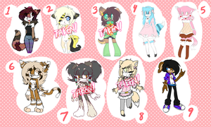 Reselling old adopts/characters [lowered prices] by heartXsurgery