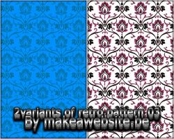 2 Variatns Retro Pattern 03 by Rizl4