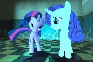 twilight and rarity: you gotta be kidding by bronyXD