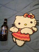 Hello Kitty Angel Perler Beads by vudumonkey25