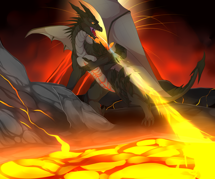 Volcano Rage - Commission by TheCondemnedArtist