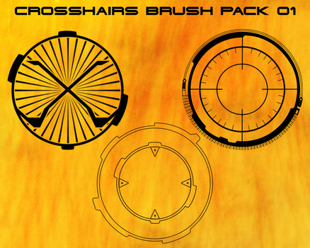 Crosshair brush pack 01 [FREE] by Atelophobia-Graphics