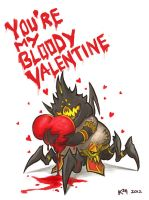 Valentines Day Card - chibi-Azmodan by CowAndCheese