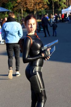 Lara Croft cosplay: catsuit improvisation 1 by TanyaCroft