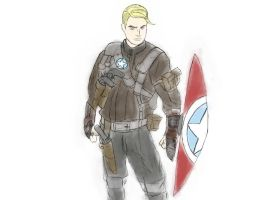 Steampunk Captain America. by Noitcefni