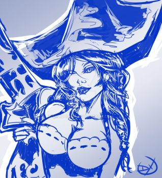 Miss Fortune - Speed Drawing by Soliduskim