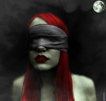 Red Headed Sightless Zombie by CarlosAE