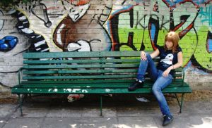 bench'n'graffiti. by miracoloso