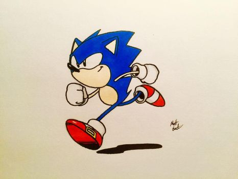Doodle for Sonic's B-day by Mattzilla527