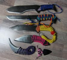 Mane6 Knives Series by Huskykaski
