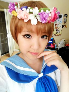 Mankanshoku Mako flower crown by CosplayProdigy