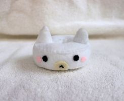 White Cat Doughnut Plush by PinkChocolate14