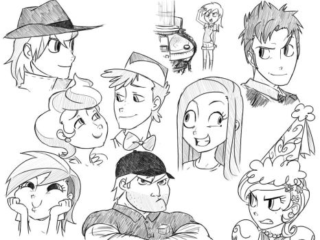 MLP sketches tres by thelivingmachine02