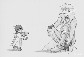 07-Ghost: Frau x Teito. first step by rinity