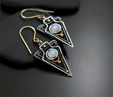 Al Sol - Aztec earrings by JoannaWatracz
