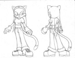 Sonic OC: Jessica the Cat by MegaSpinosaur