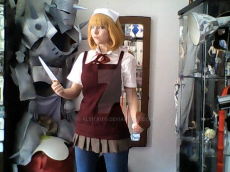 Hana cooking outfit test by Albitxito
