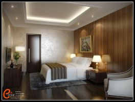 Master Bedroom Darmawangsa apartment by cuanz