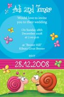 Wedding Invitation - Snails by Tooshtoosh