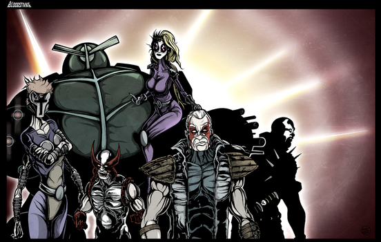 BloodStrike - Extreme Comics tribute by Cilab