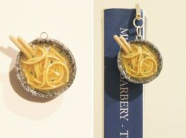 Polymer Clay Bowl of Soup Bookmark by CharmStop