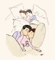klaine cuddles by kurtscoffee