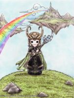 Avengers: Chibi Loki by Bubble-Chubi