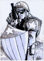 Captain America inks by scarecrowhassan