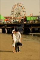 Romance by the pier. by bellasclassicphoto