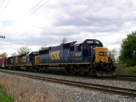 CSX SD50-2 8588 by LDLAWRENCE