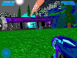 MS Paint - Halo game play by Lehvorak